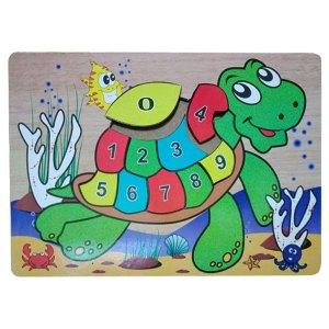 puzzle kura kura angka - Puzzle Angka Kura-kura