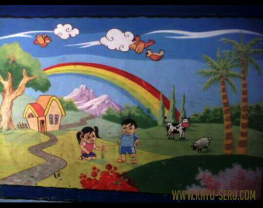 lukisan tembok PAUD - Jasa Lukis Dinding TK - PAUD, Gambar Bisa Request