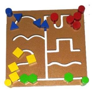 maze persegi dua muka - Maze Geometri Dua Muka