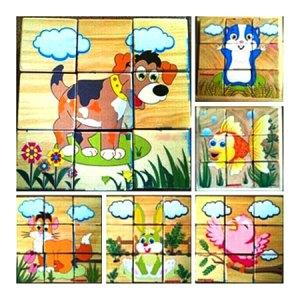 puzzle balok hewan peliharaan - Puzzle Balok Hewan Peliharaan