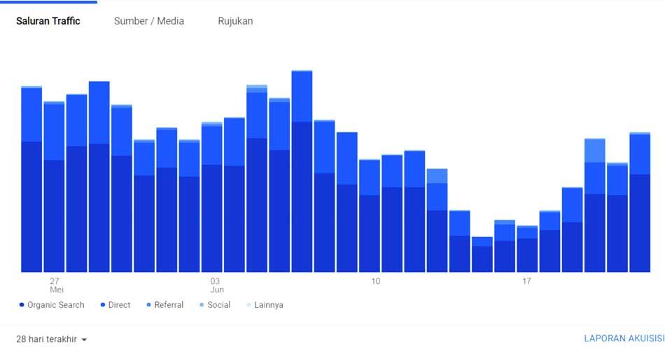 statsitik pengunjung situs - Pengaruh Libur Panjang Terhadap Penjual Online