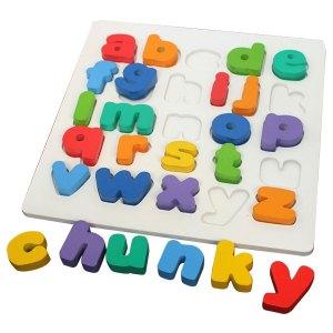 puzzle chunky huruf kecil - Puzzle Chunky Huruf Kecil