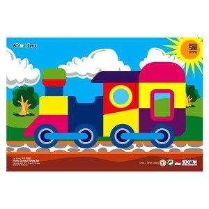 puzzle kereta api - Plakat Kayu Hadiah Wisuda Siswa SPS Kenanga Tangerang