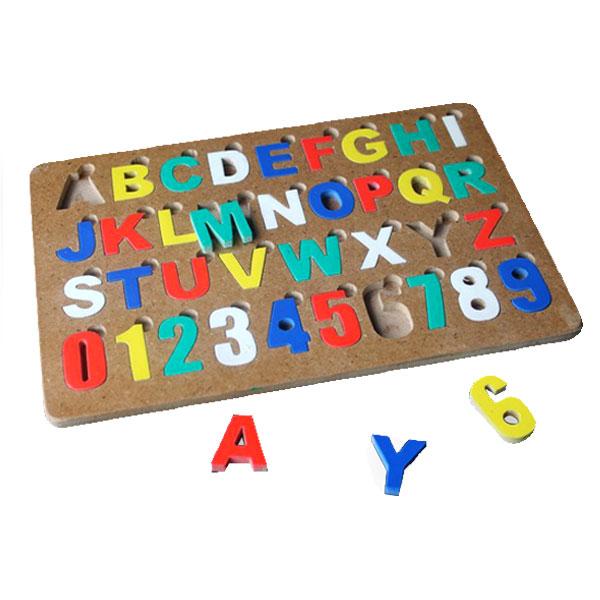 puzzle alfabet huruf Besar Cat - Puzzle Huruf Besar & Angka Cat