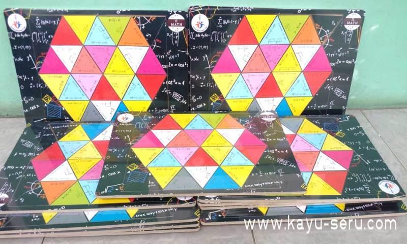 puzzle matematika - Membuat Puzzle Custom Belajar Matematika Ukuran A3