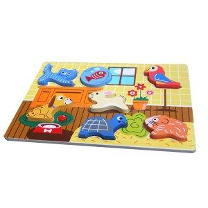 puzzle hewan peliharaan timbul - Puzzle Chunky Hewan Peliharaan