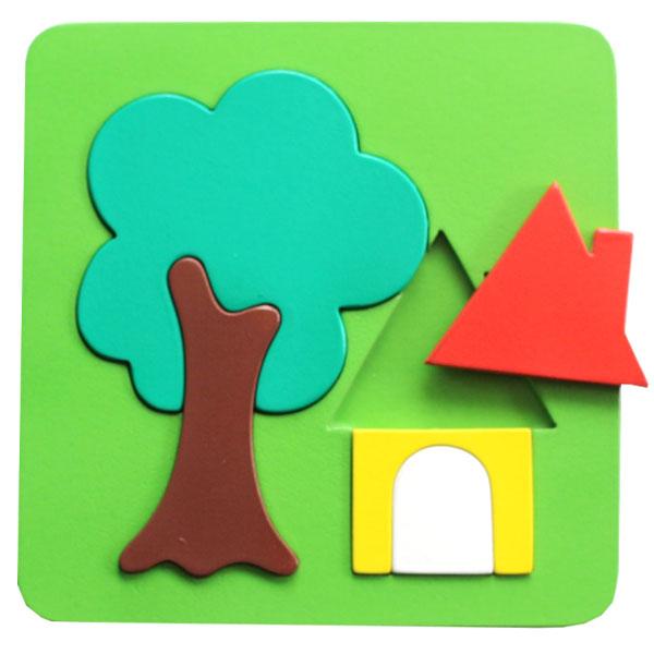 puzzle pohon - Puzzle Rumah dan Pohon