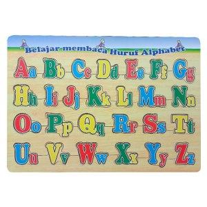 puzzle huruf besar kecil - Plakat Custom Wisuda PAUD Cahaya Ilmu Serang Banten