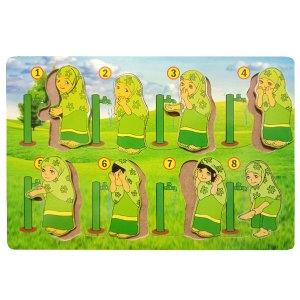 puzzle berwudhu perempuan - Puzzle Gerakan Wudhu Perempuan