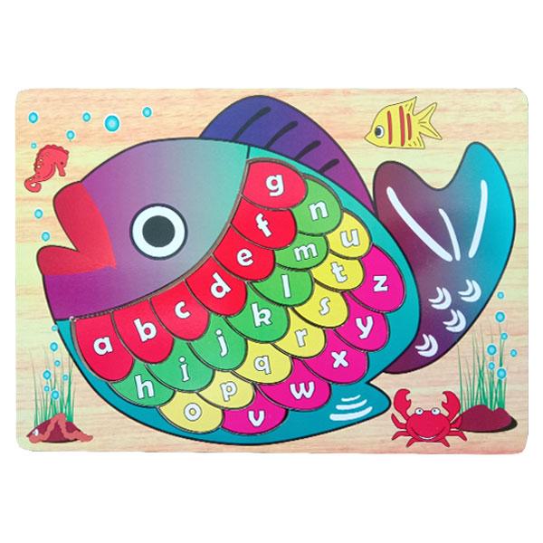 puzzle ikan huruf - Puzzle Ikan Huruf