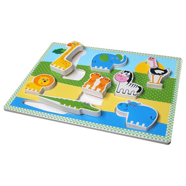 puzzle chunky binatang safari - Puzzle Chunky Hewan Safari