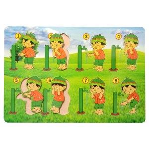 puzzle wudhu laki laki - Membuat Plakat Wisuda TK Islam Asshafa