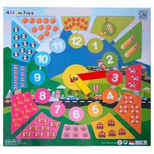 puzzle stiker jam - Berkah Idul Adha Gratis Ongkir Semua Produk