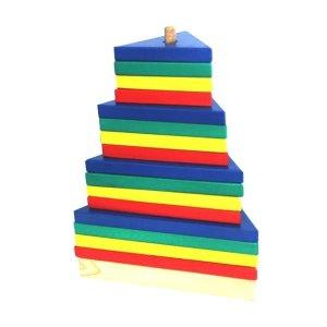 Menara segitiga pelangi - Plakat Kayu Hadiah Wisuda Siswa SPS Kenanga Tangerang