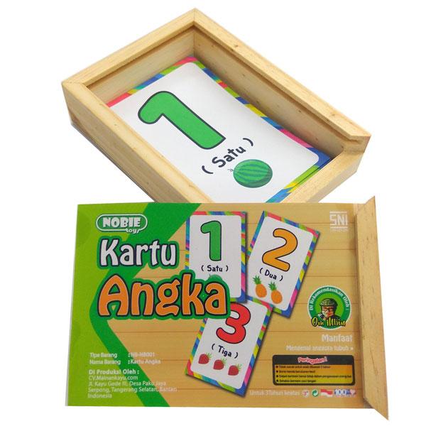 kartu angka kotak kayu - Kartu Angka