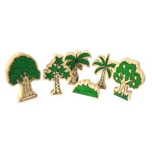 miniatur pohon - Plakat Kayu Hadiah Wisuda Siswa SPS Kenanga Tangerang