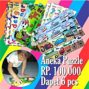 puzzle murah - Balok Kayu Natural, Produktifitas, Aktifitas dan Kreatifitas Anak