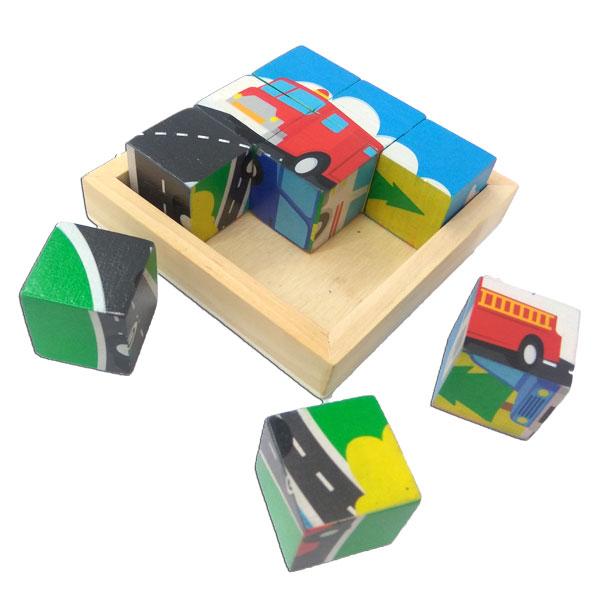puzzle kubus transportasi - Puzzle Kubus Transportasi