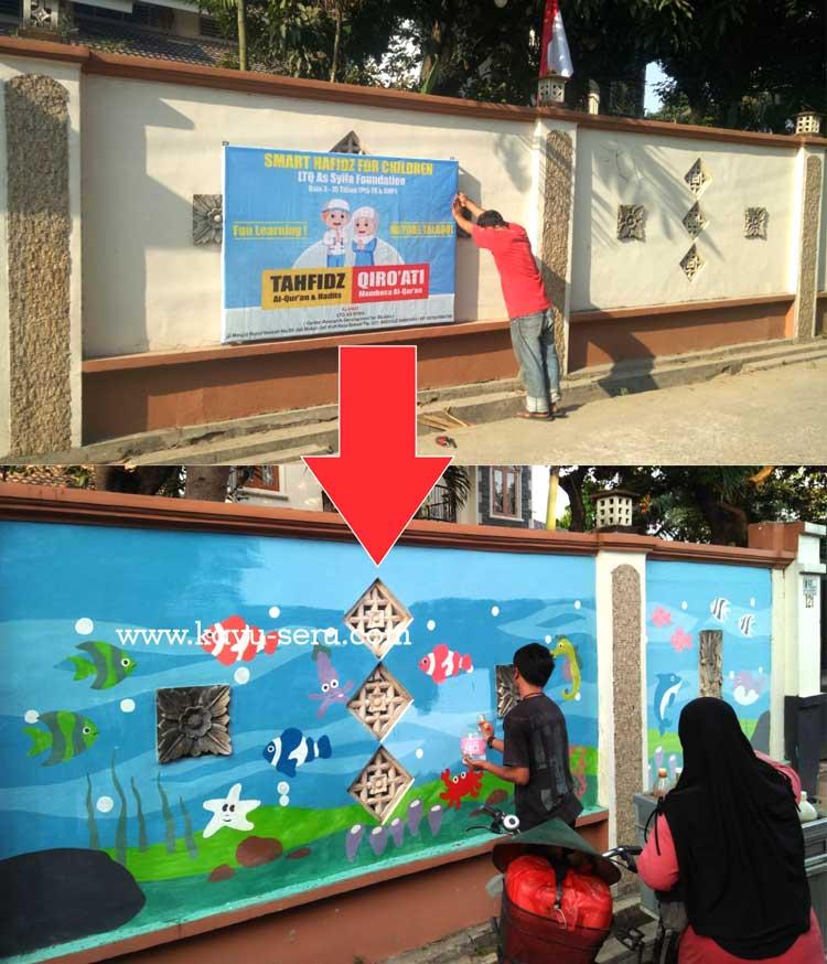 Lukis DInding PAUD - Pengerjaan Lukis Dinding TK Karakter di Jatiasih Bekasi