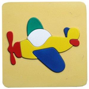 puzzle 2d pesawat cat - Plakat Untuk Wisuda Dari Kayu Untuk TK Dhian