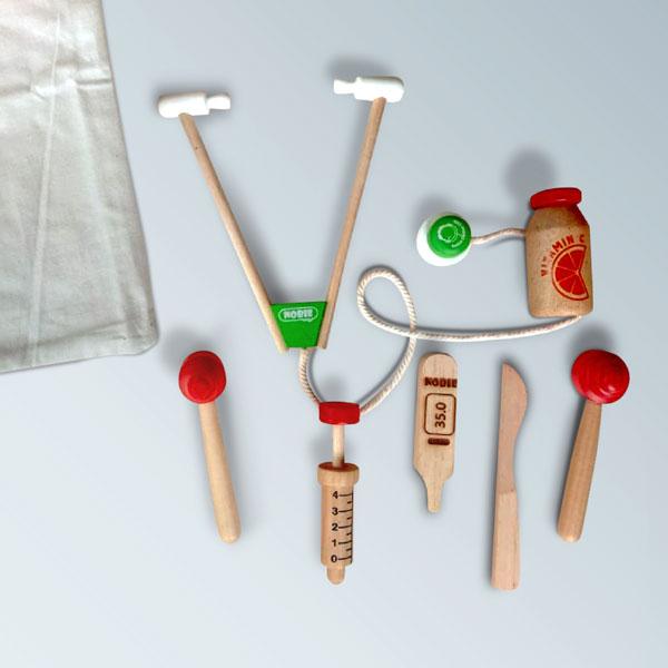 dokter anak kayu - Dokteran Kayu Set