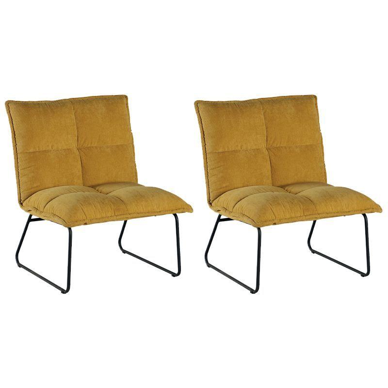 lot 2 fauteuils tissu calgary casita faucaljau