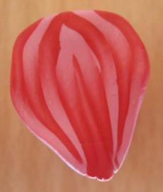 pink and white petal cane