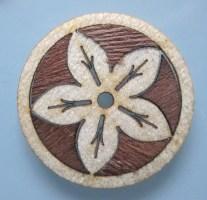 laser cut wooden flower marquetry