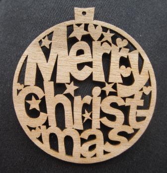 laser cut Christmas tree decorations - bauble ornament shape