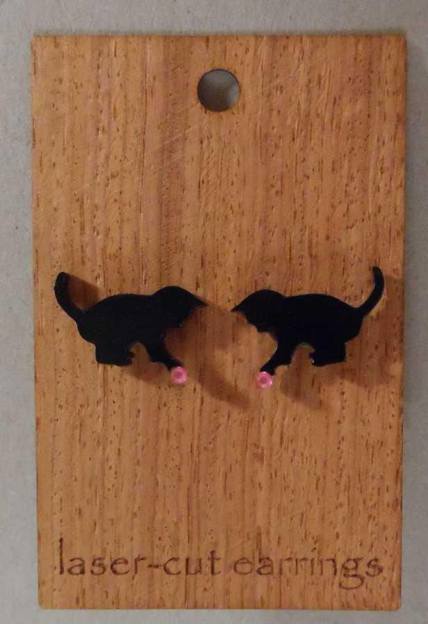 laser cut stud earrings kittens-compressed
