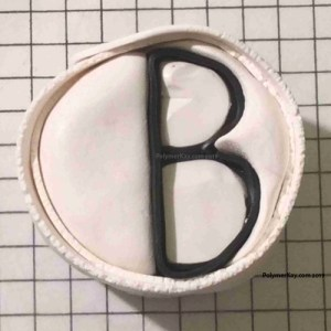 wrap Letter B cane with white clay