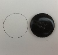 Draw around the button to get a size guide for the polymer clay flower button