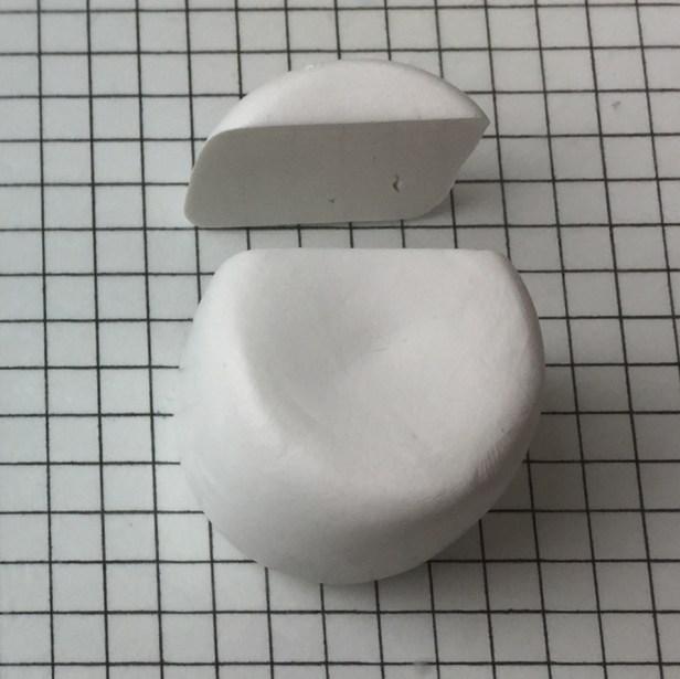 Letter T polymer clay alphabet cane tutorial - cut horizontal line