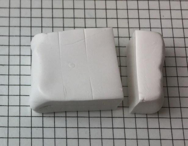 Letter T polymer clay alphabet cane tutorial - cut off a quarter