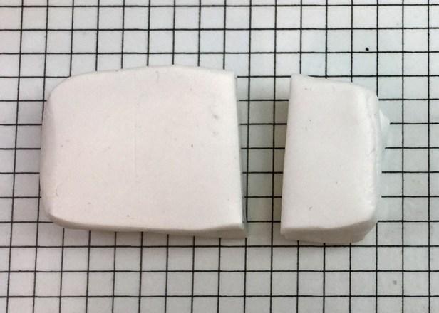 Letter G polymer clay alphabet cane step01