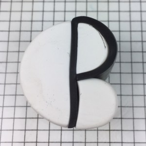 Letter P polymer clay alphabet cane tutorial - reassemble cane