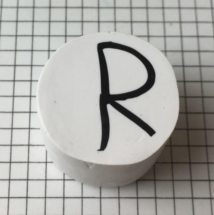 Letter R polymer clay alphabet cane tutorial