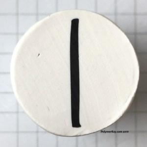 Letter I polymer clay alphabet cane tutorial - KayVincent