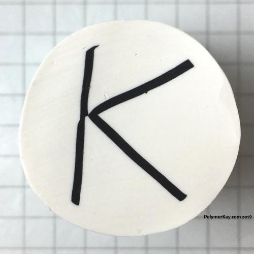 Letter K polymer clay alphabet cane tutorial - KayVincent
