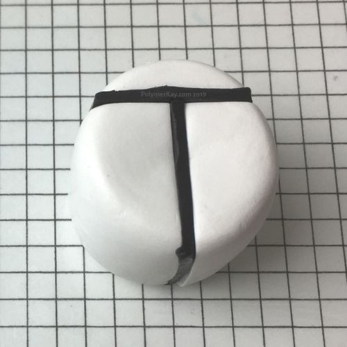 Letter T polymer clay cane - antepenultimate step - KayVincent