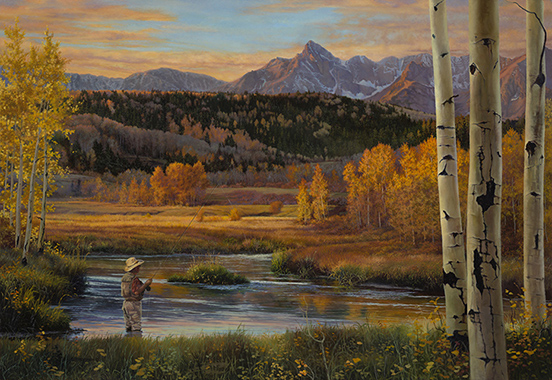 """""""Colorado"""" © Kay Witherspoon, 44"""" x 64"""", oil on linen (SOLD), canvas giclée prints available"""