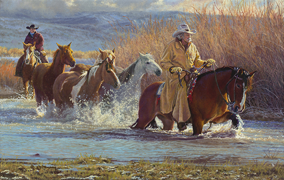 """Leaving Winter Behind"" © Kay Witherspoon, 24"" x 15"", Oil on Linen"