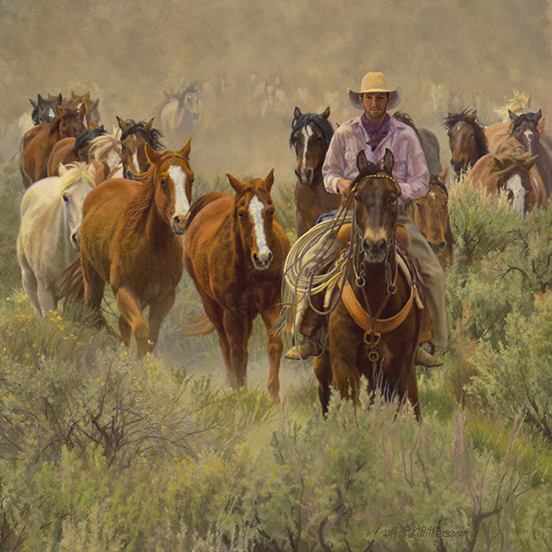 """Living' The Dream © by Kay Witherspoon, 24"" x 24"" oil on linen (SOLD) available Canvas Giclée Print $475.00"
