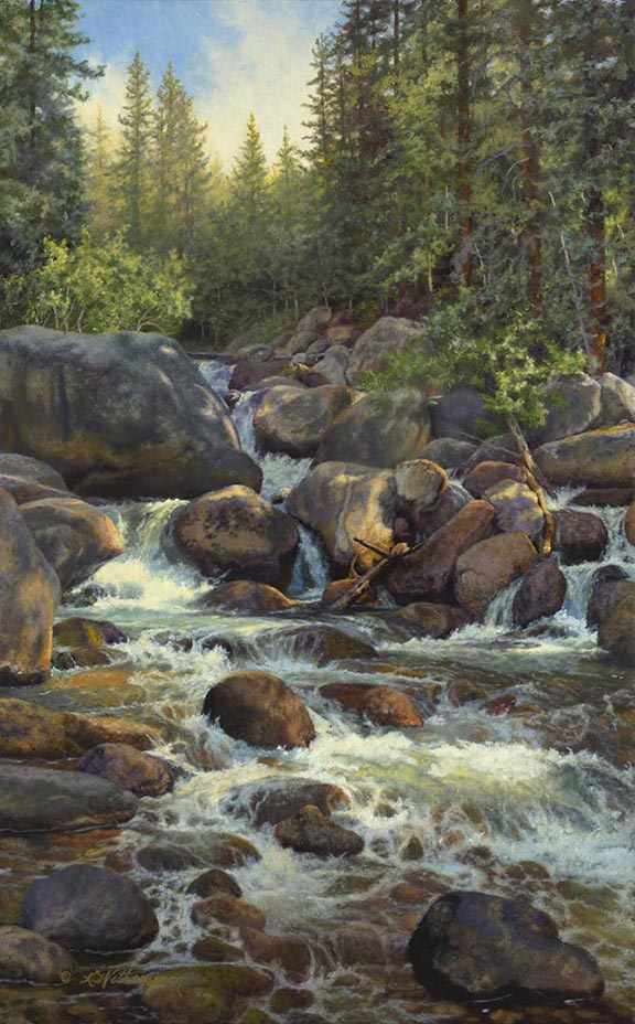 """Rocky Mountain High"" © K Witherspoon, 24"" x 15"", oil on linen"