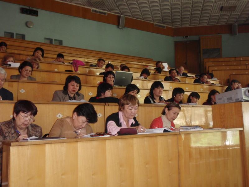 Kazakh teachers in Hall #1