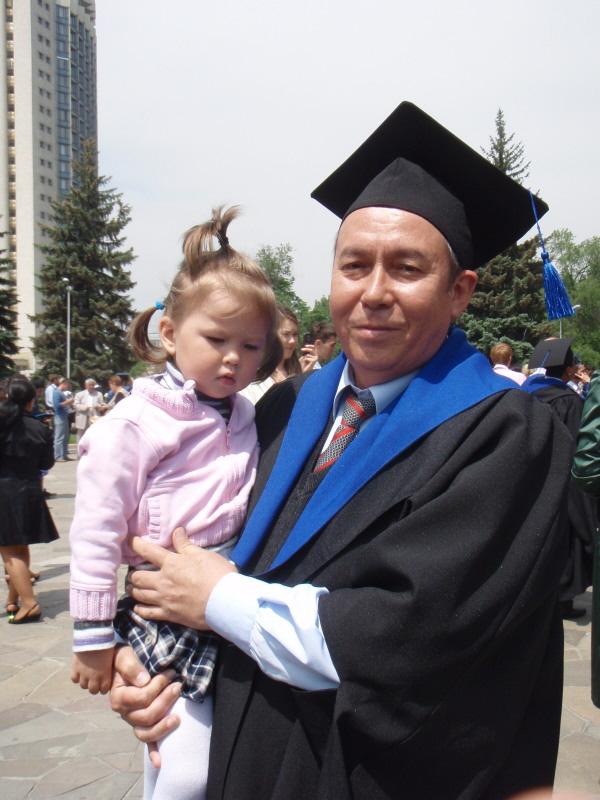 Bakhyt and granddaughter