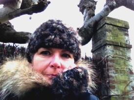 Bandeau et mitaines réalisés au crochet (laine merino et laine fantaisie) - Création Kazamarie