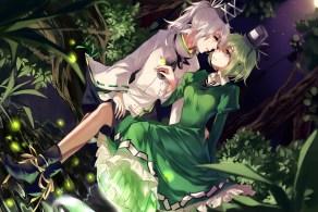 Konachan.com - 185371 hug_(yourhug) mononobe_no_futo shoujo_ai soga_no_tojiko touhou