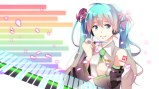 Konachan.com - 201566 aqua_eyes aqua_hair hatsune_miku headphones instrument long_hair piano tie twintails vocaloid