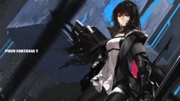 Konachan.com - 199389 armor black_hair dress pantyhose pixiv_fantasia red_eyes swd3e2